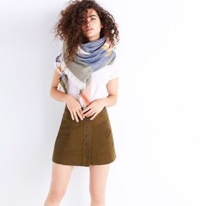 Madewell | Olive Metropolis Snap Front Skirt
